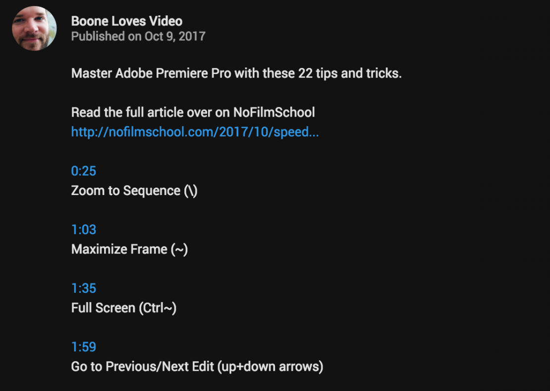 Add Youtube Time Links