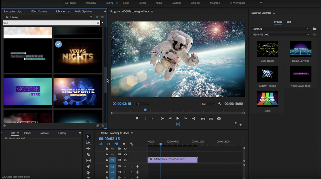 Dive into Premiere Pro: Dynamic Tools Make Motion Graphics Easy