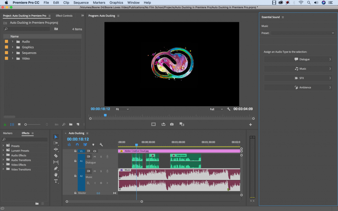 Tutorial: Save Time with Adobe Premiere Pro's New Audio Ducking Tool