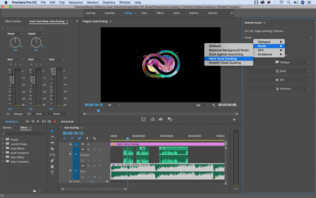Tutorial: Save Time with Adobe Premiere Pro's New Audio