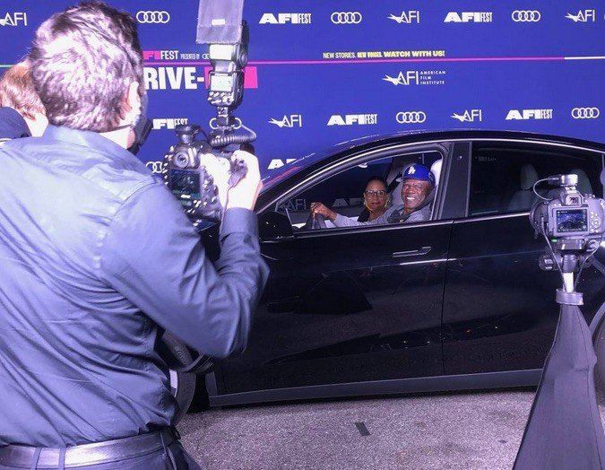 Behind the scenes at the AFI Fest Drive-In