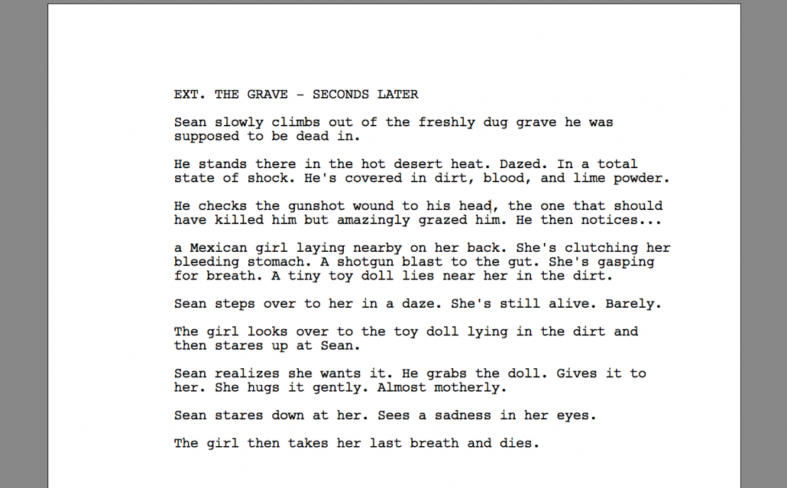 Spec script after