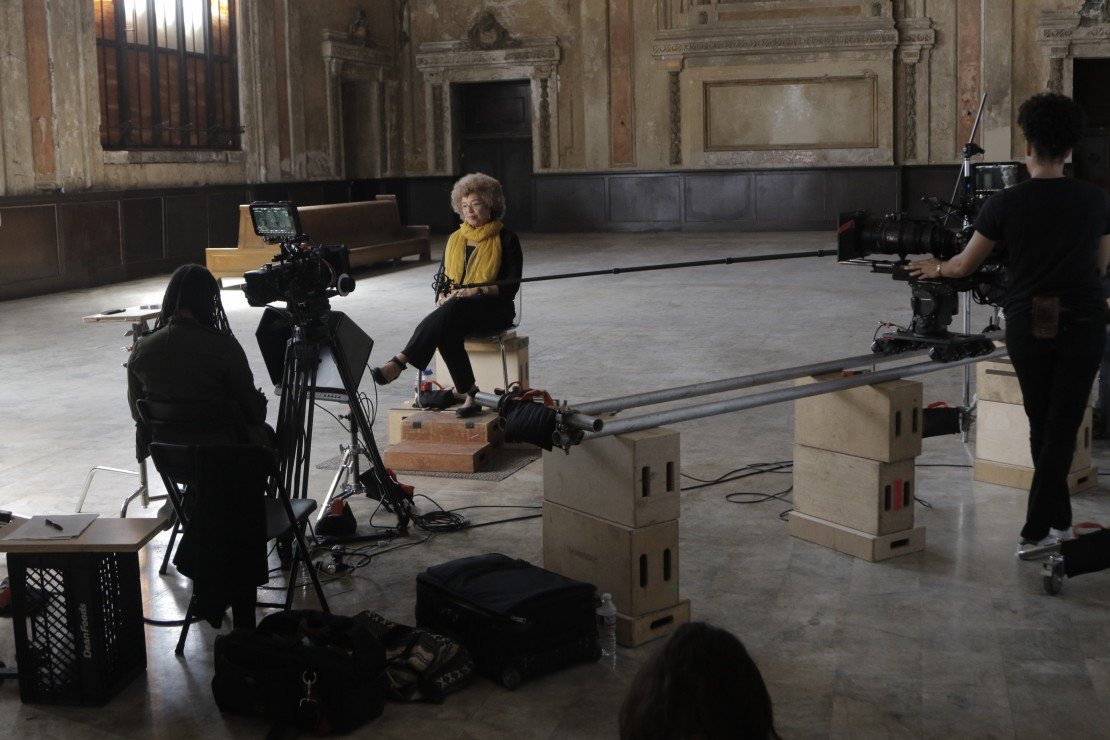 Filming Angela Davis for '13th'