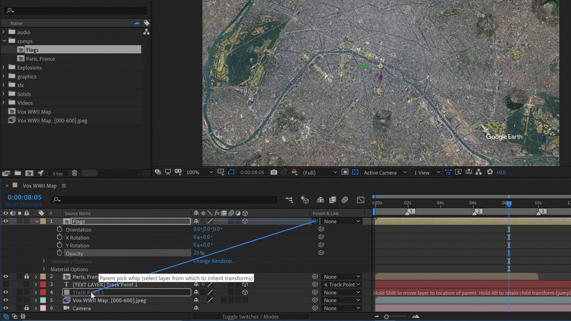Animate Vox Style Maps in Adobe After Effects