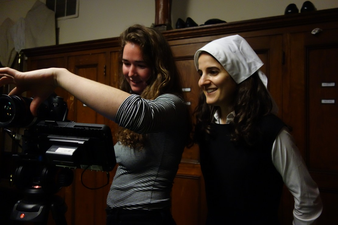 Director Sarah Salovaara and Ana Fabrega in 'Let Me Die a Nun'