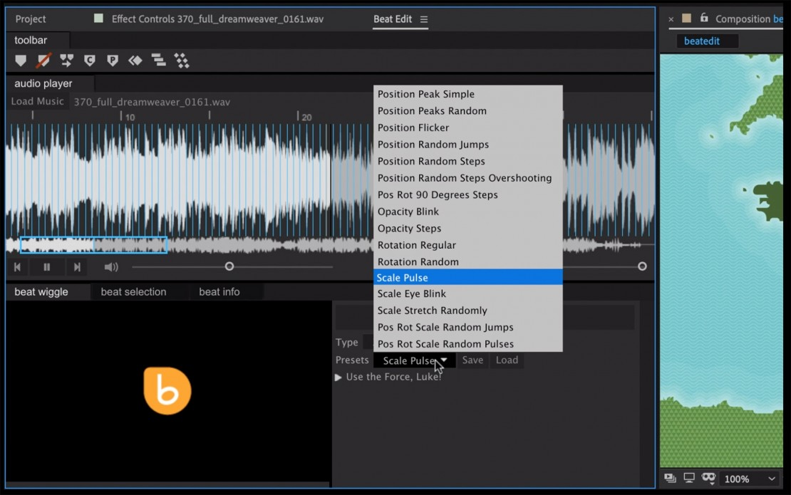 BeatEdit Plugin for Adobe After Effects