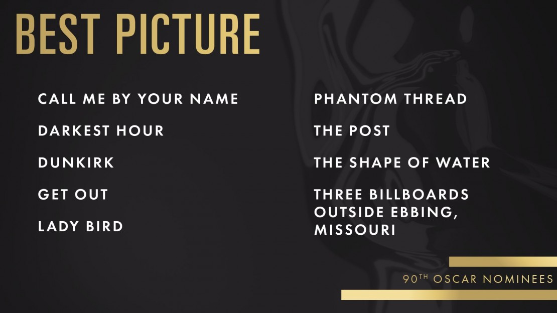 Here Are the 2018 Oscar Nominations COMPLETE LIST
