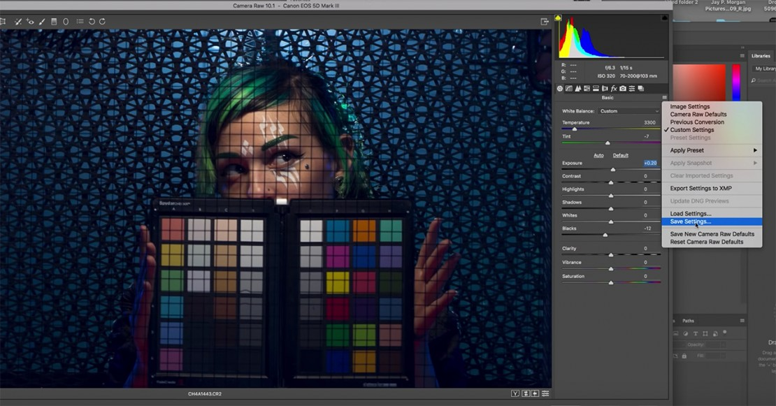 How To Correct White Balance With A Color Chart