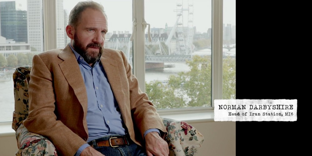 Ralph Fiennes playing Norman Darbyshire