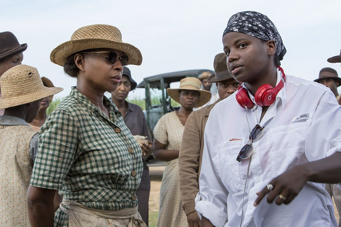 Mary J. Blige and Dee Rees on the set of 'Mudbound'