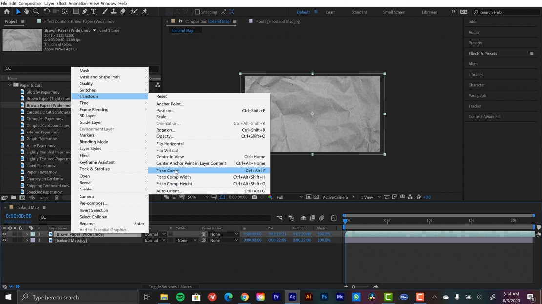 Displacement Maps in After Effects
