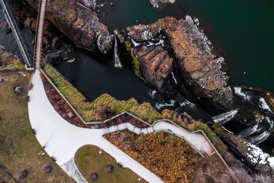 Top-Down View of the Great Falls in Paterson, NJ