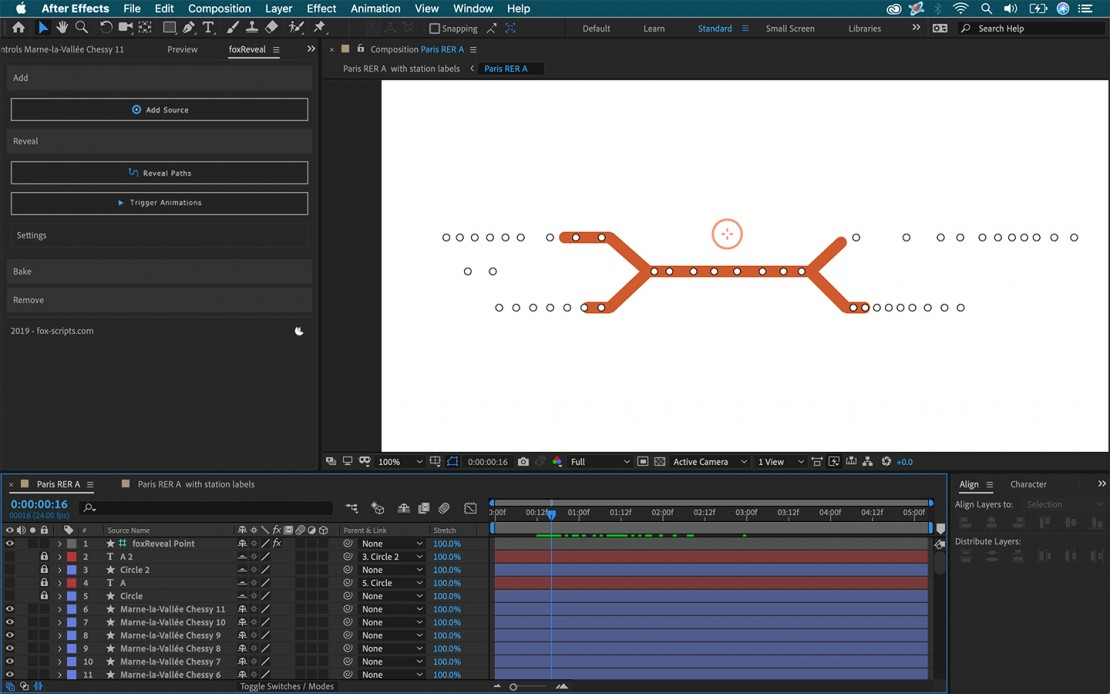 foxReveal for Adobe After Effects
