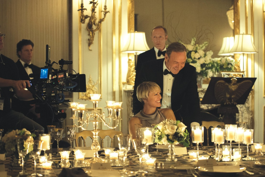 House of Cards candle-lit state dinner