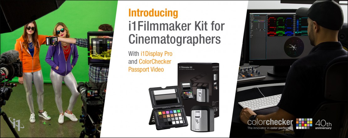 X-Rite i1 Filmmaker Kit Combines Two Powerful Tools at One