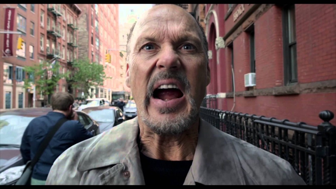 Michael Keaton is disturbed in Birdman
