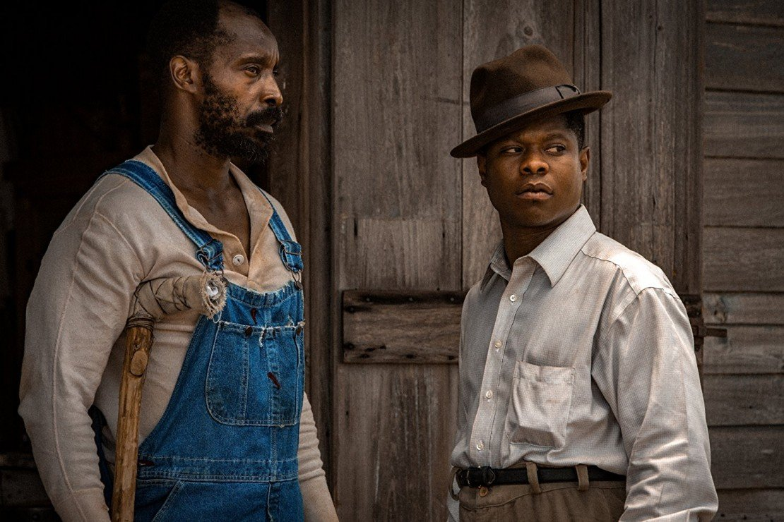 Rob Morgan as Hap and Jason Mitchell as Ronsel in 'Mudbound'