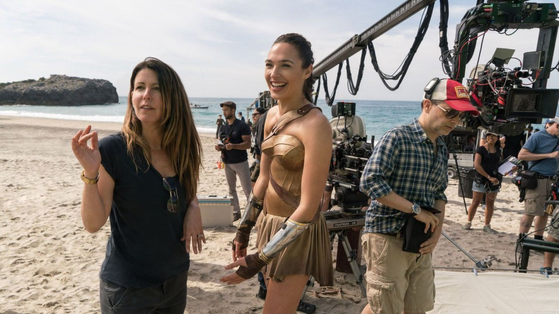 Patty Jenkins on the set of Wonder Woman