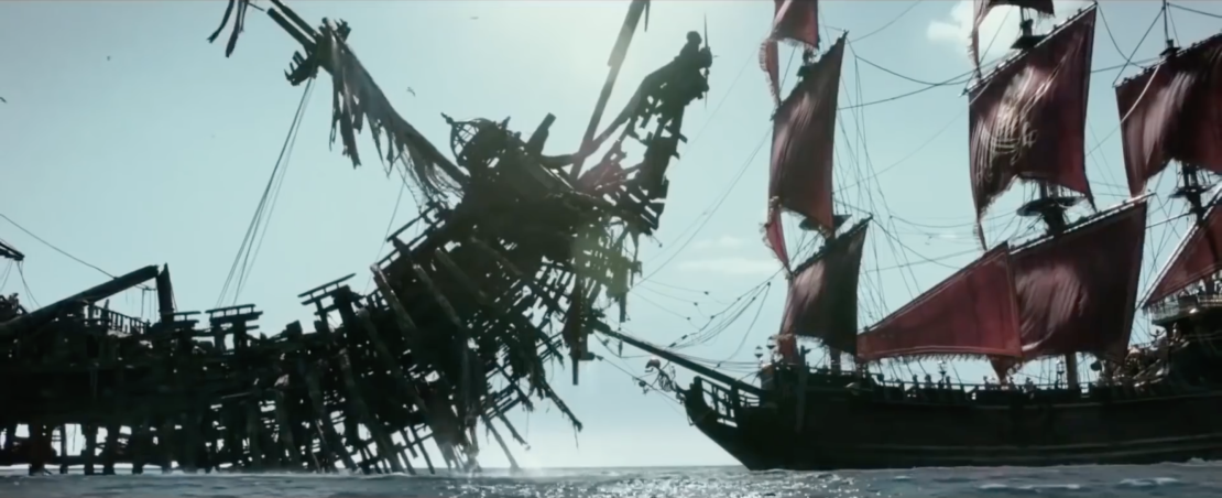 Pirates of the Caribbean Dead Men Tell No Tales DP Paul Cameron Salazar's Ship vs. Barbossa's Ship