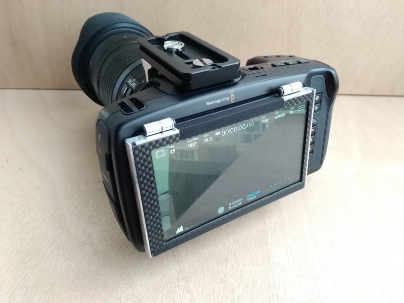 Rear View, Blackmagic Pocket Cinema Camera 4K with Flip Up Screen