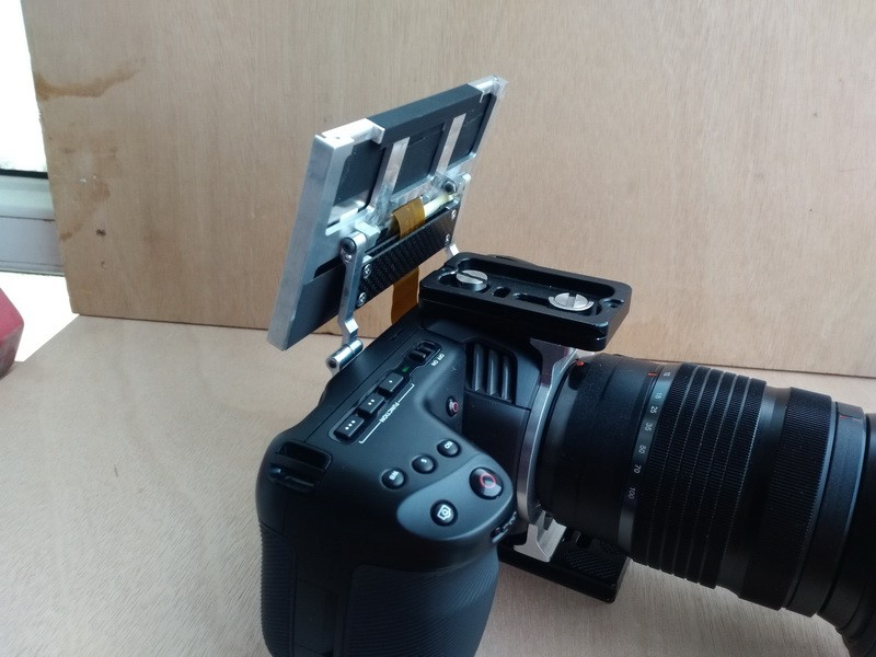 Blackmagic Pocket Cinema Camera 4K with Flip Up Screen wiring modification