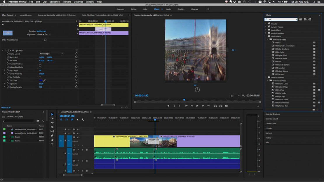 Dive into Premiere Pro: How Adobe is Helping to Mature VR Filmmaking