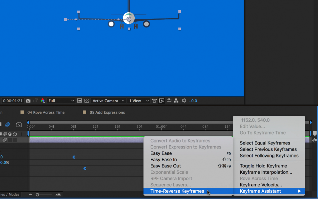 Advanced Keyframing in Adobe After Effects