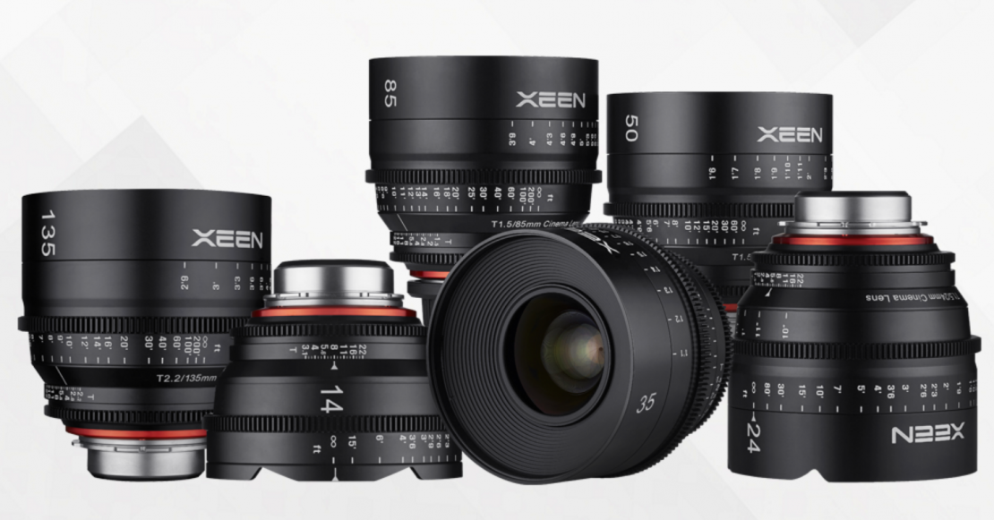XEEN line showing the new 135mm at left.