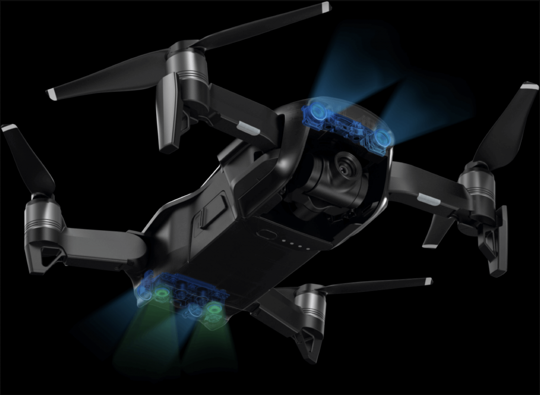 7 Sensors Comprise Mavic Air's Obstacle Avoidance System