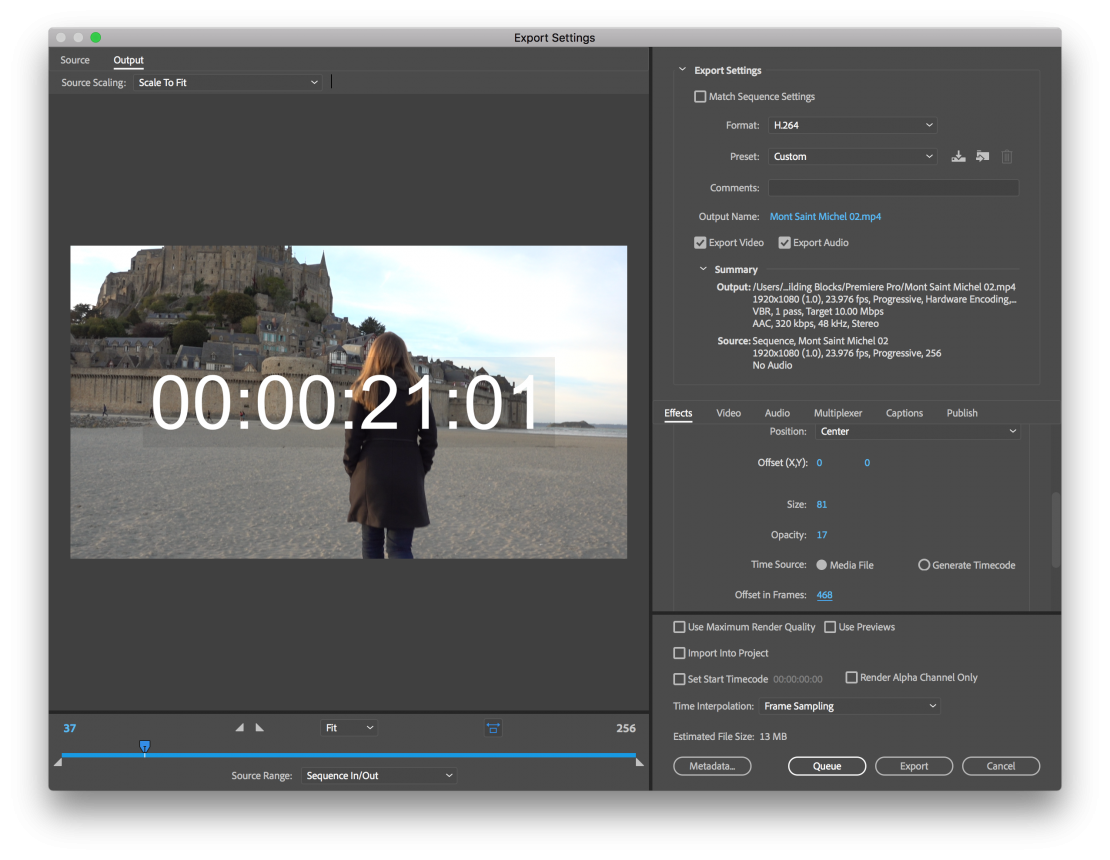 How to Add a Timecode Stamp to Your Premiere Pro Exports