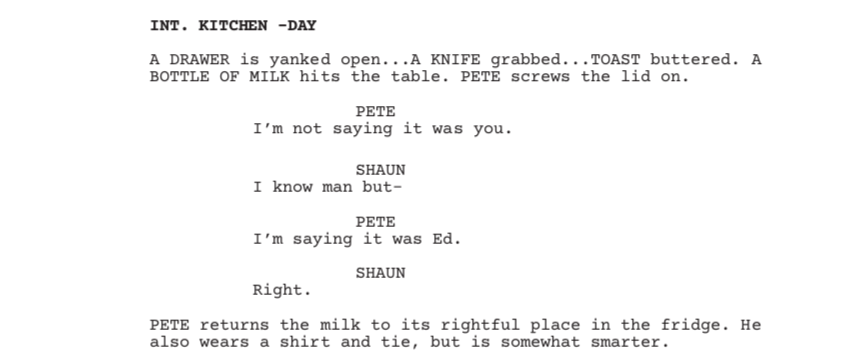 How the 'Shaun of the Dead' Script Directs Your Eye