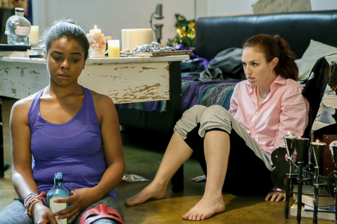 Stacey Maltin and E'dena Hines in 'Landing Up'