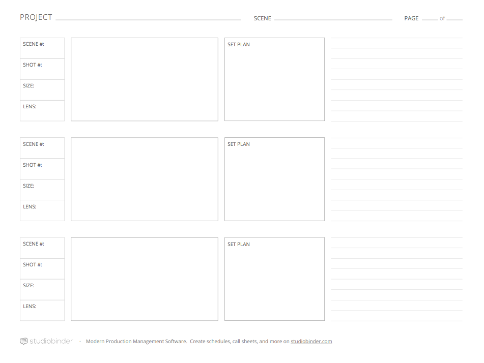 Download These 7 Storyboard Templates for Free from StudioBinder – Storyboard Sample in Word