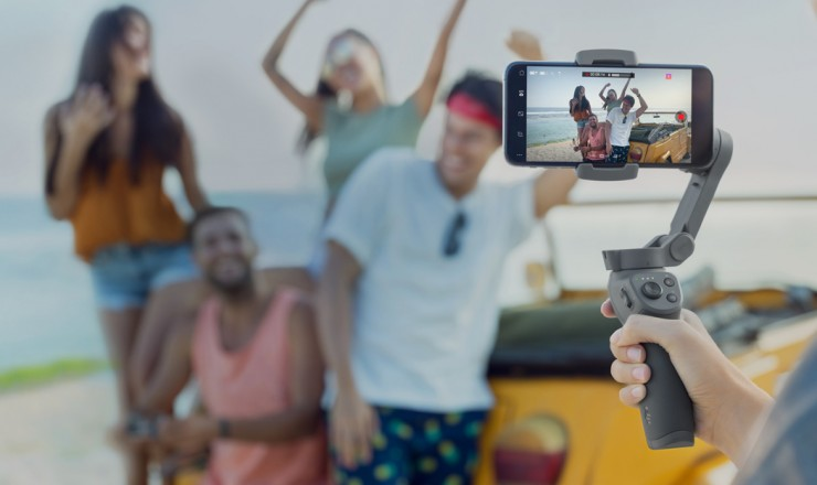 The new DJI Osmo Mobile 3 Folds for compact storage