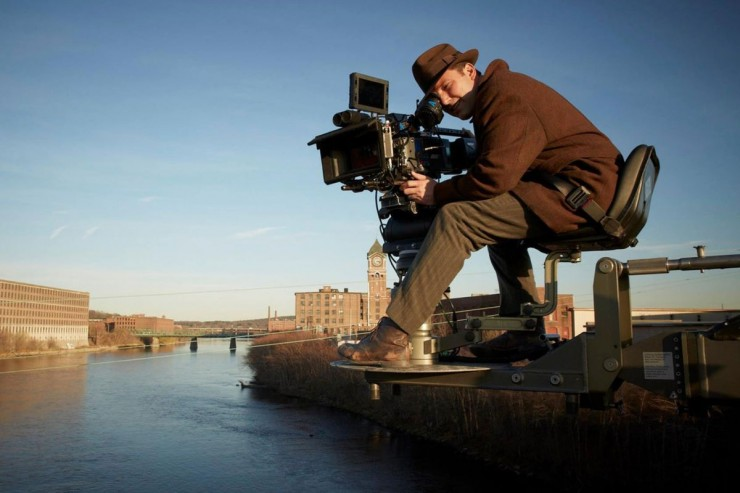 Ben Affleck on the set of 'Live By Night'