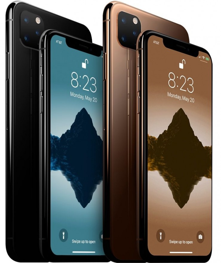 Mockup of the iPhone 11 Design with third camera array