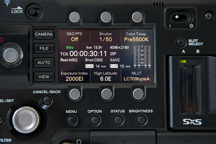 Sony F5 4K Hack Close-Up Control Panel