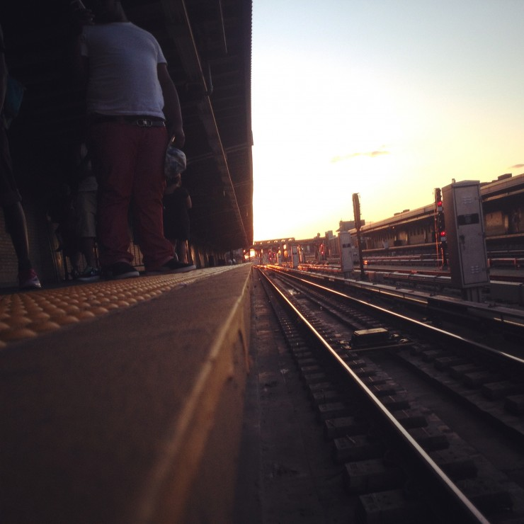 Waiting for a Train in Brooklyn