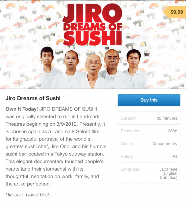 Jiro Dreams of Sushi on Gumroad