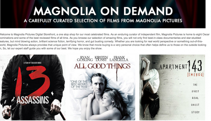 Magnolia Pictures using Gumroad to distribute directly