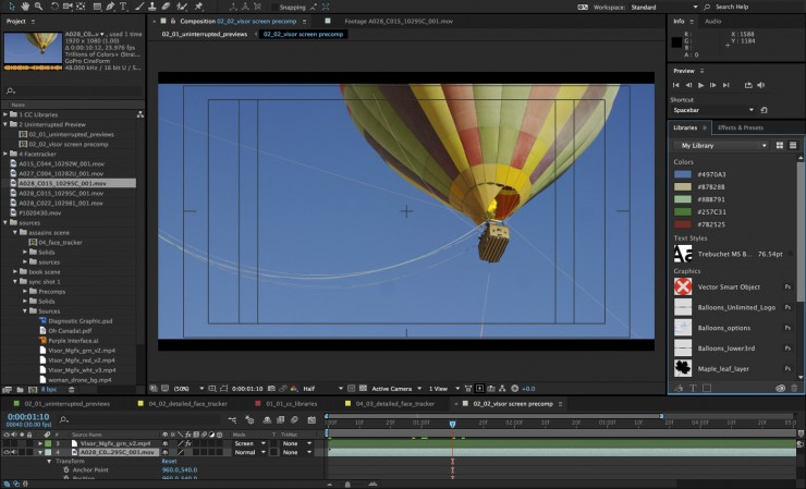 Adobe After Effects Creative Cloud Libraries