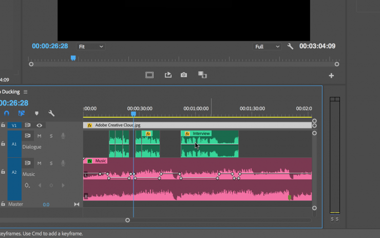 how to end music premiere pro
