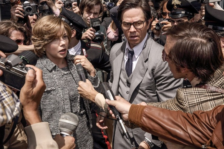 Michelle Williams and Mark Wahlberg in 'All the Money in the World'