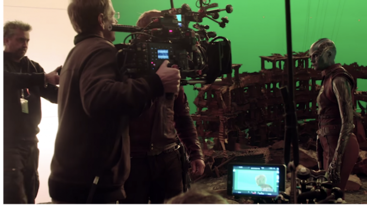 The post production team was on set every day