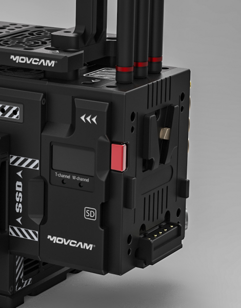 Movcam hot swappable battery plate