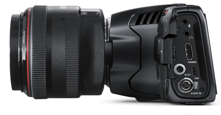 Blackmagic Pocket Cinema Camera 6K Side view