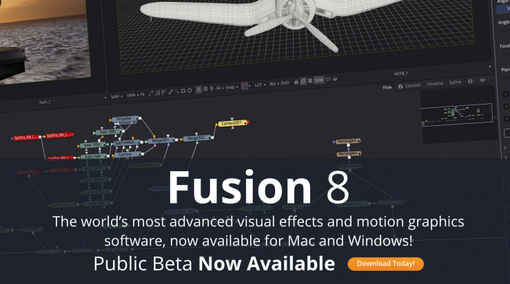 Blackmagic Fusion 8 Public Beta