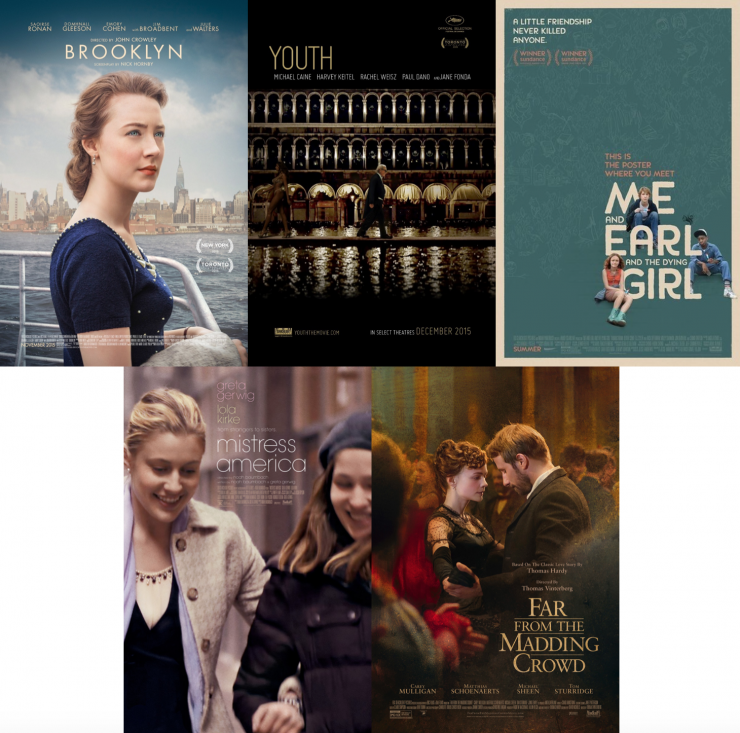 Brooklyn, Youth, Me and Earl and the Dying Girl, and More Screenplays For Your Consideration