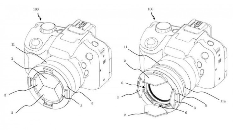 Intriguing new barn door lens cap design for Canon Cameras