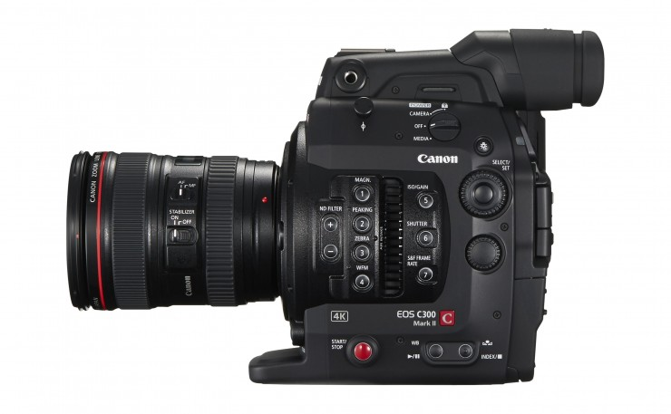 Canon C300 Mark II Side View